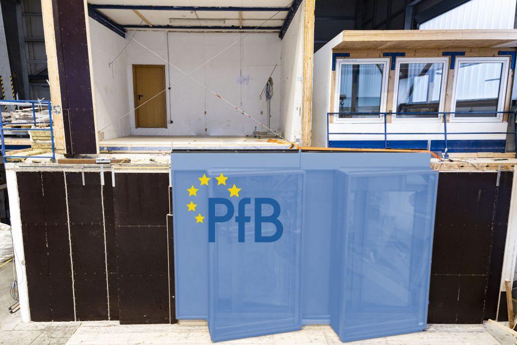 Das PfB Prüfzentrum für Bauelemente ein halbes Jahr nach Erweiterung des Bereichs Bauakustik mit zusätzlichen Prüfmöglichkeiten